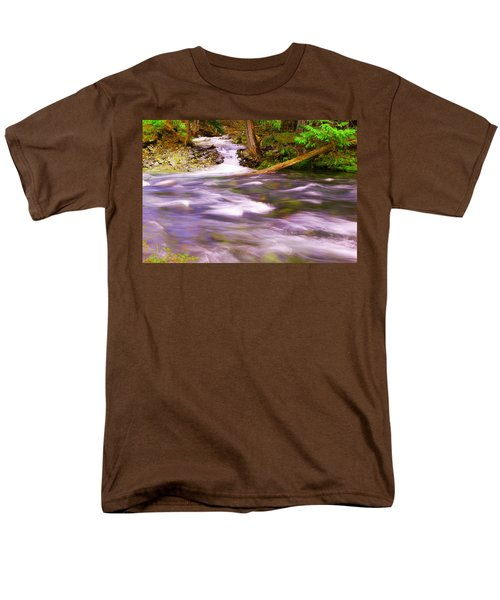 Men's T-Shirt  (Regular Fit) featuring the photograph Where The Stream Meets The River by Jeff Swan