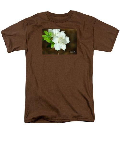 White Azalea  Men's T-Shirt  (Regular Fit) by Rand Herron