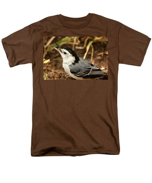 White Breasted Nuthatch 2 Men's T-Shirt  (Regular Fit) by Sheila Brown