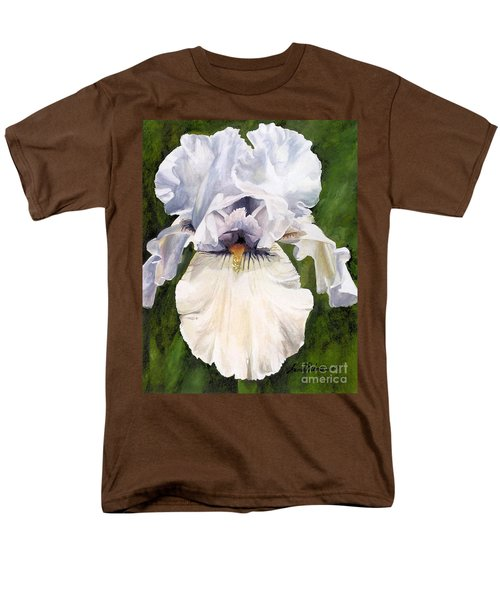 White Iris Men's T-Shirt  (Regular Fit) by Laurie Rohner