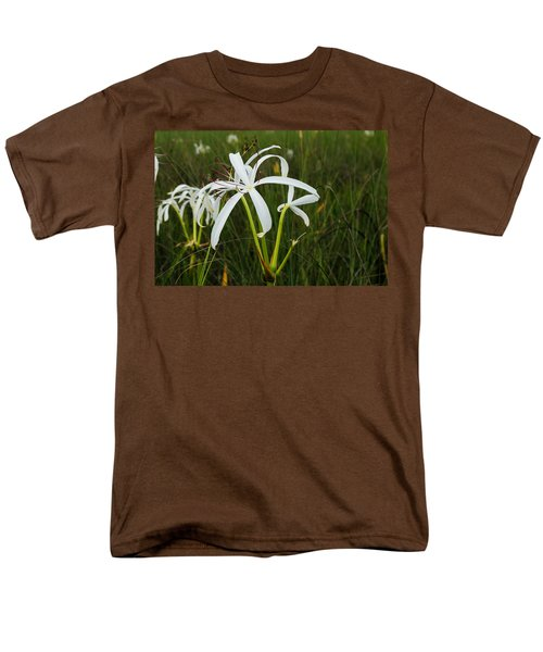 White Lilies In Bloom Men's T-Shirt  (Regular Fit) by Christopher L Thomley