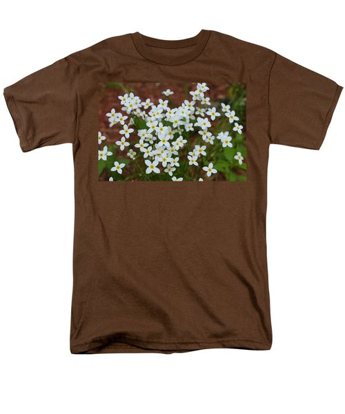 Men's T-Shirt  (Regular Fit) featuring the digital art White Wildflowers by Barbara S Nickerson