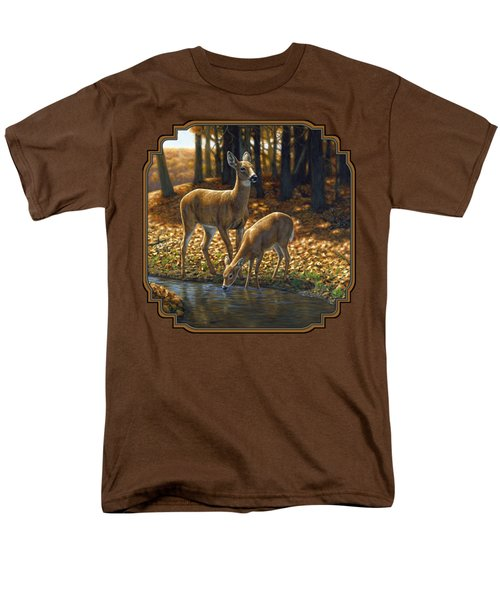 Whitetail Deer - Autumn Innocence 1 Men's T-Shirt  (Regular Fit) by Crista Forest