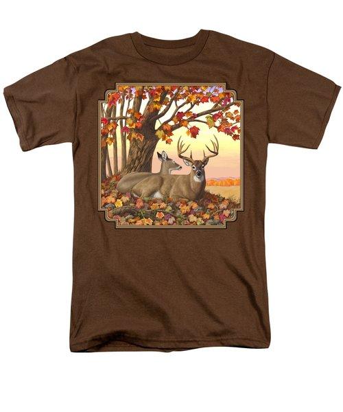 Whitetail Deer - Hilltop Retreat Men's T-Shirt  (Regular Fit) by Crista Forest