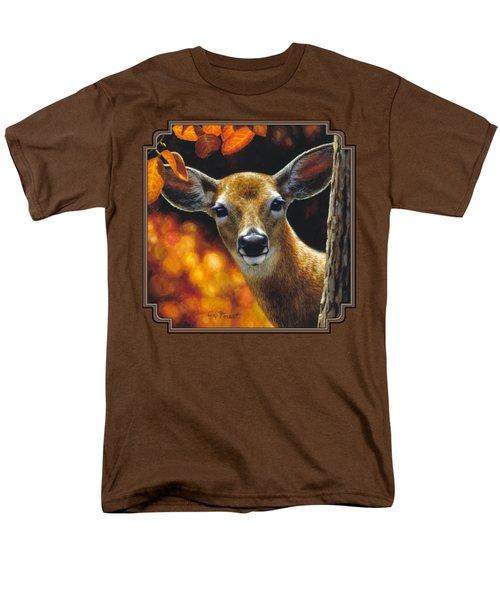Whitetail Deer - Surprise Men's T-Shirt  (Regular Fit) by Crista Forest