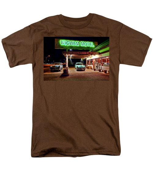 Men's T-Shirt  (Regular Fit) featuring the photograph Wigwam Motel by Jason Abando