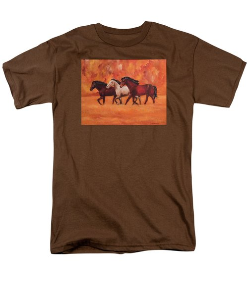 Men's T-Shirt  (Regular Fit) featuring the painting Wild Horses by Ellen Canfield