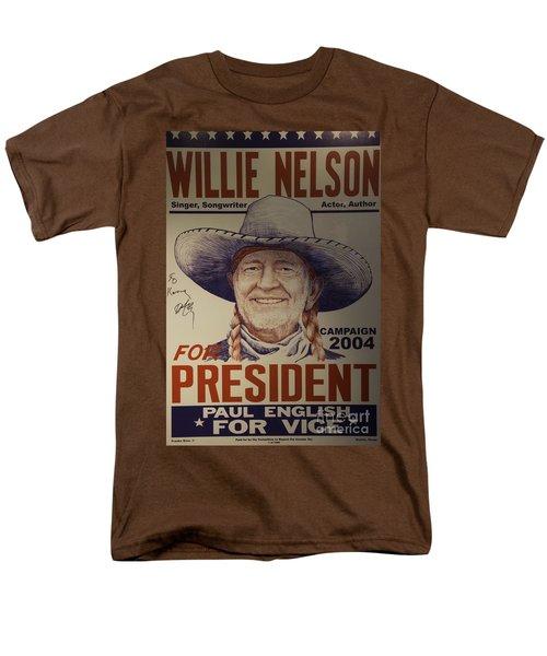 Willie For President Men's T-Shirt  (Regular Fit) by Bob Hislop