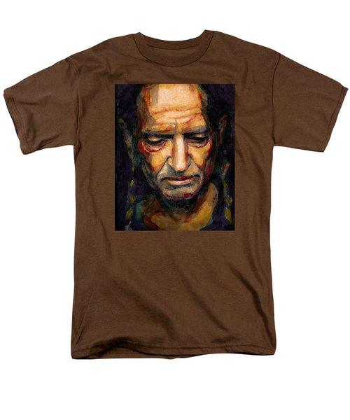 Willie Nelson Portrait 2 Men's T-Shirt  (Regular Fit) by Laur Iduc
