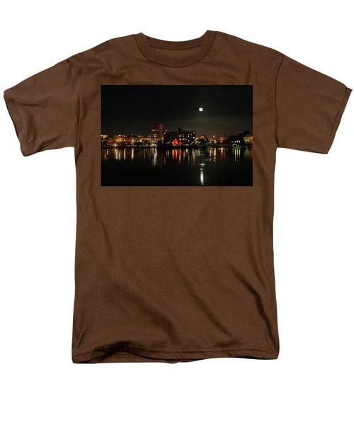Wilmington Nc At Night Men's T-Shirt  (Regular Fit) by Denis Lemay