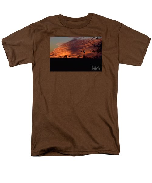 Windmill At Sunset Men's T-Shirt  (Regular Fit) by Mark McReynolds