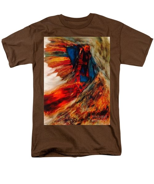 Men's T-Shirt  (Regular Fit) featuring the painting Winged Ones by FeatherStone Studio Julie A Miller