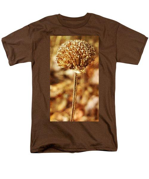 Winter Bee Balm Men's T-Shirt  (Regular Fit) by Bruce Carpenter