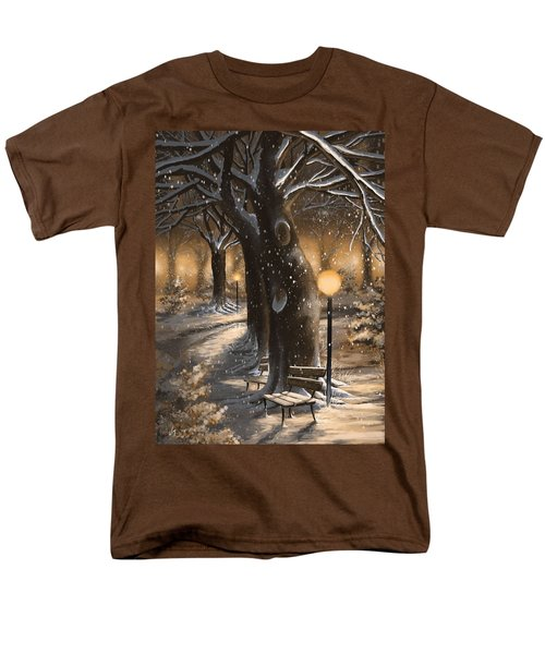 Men's T-Shirt  (Regular Fit) featuring the painting Winter Magic by Veronica Minozzi