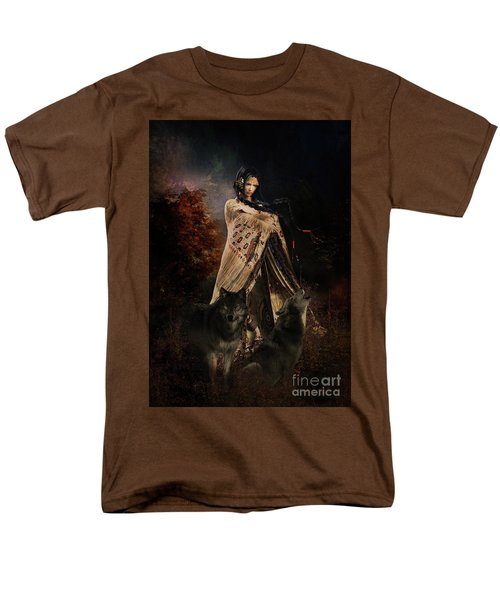 Wolf Song Men's T-Shirt  (Regular Fit) by Shanina Conway