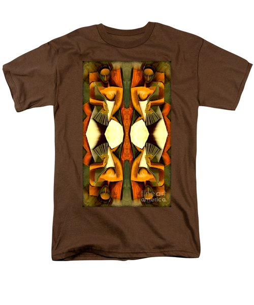 Woman With A Fan X4 Men's T-Shirt  (Regular Fit) by Picasso