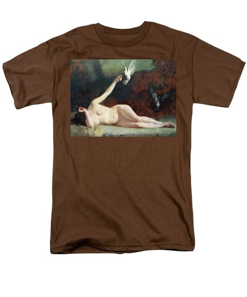 Woman With Pigeons Men's T-Shirt  (Regular Fit) by Ernst Philippe Zacharie