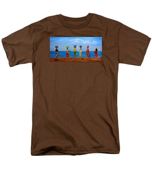 Women Of Africa  Men's T-Shirt  (Regular Fit) by Bev Conover