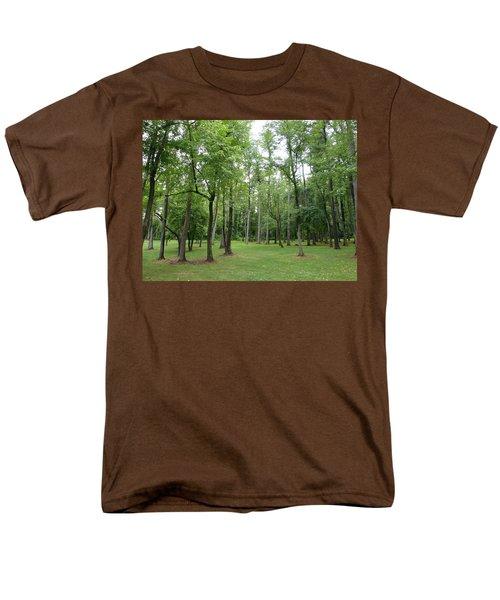 Men's T-Shirt  (Regular Fit) featuring the photograph Woods At Lake Redman by Donald C Morgan