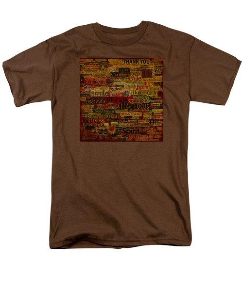 Words Matter Men's T-Shirt  (Regular Fit) by Gloria Rothrock