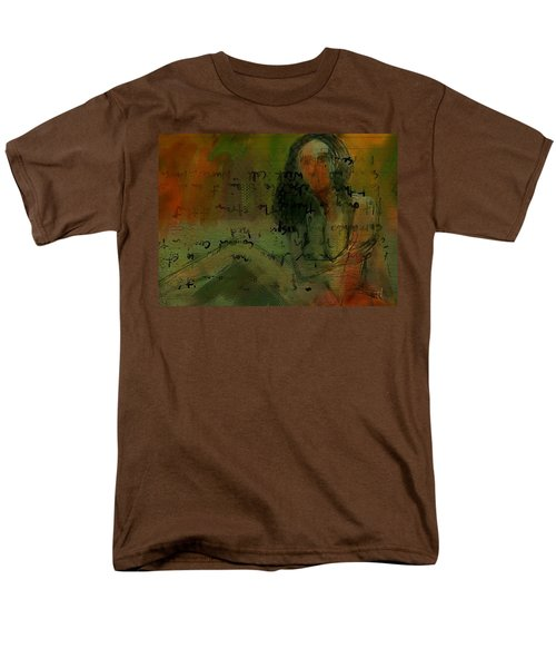 Men's T-Shirt  (Regular Fit) featuring the painting Written Out by Jim Vance
