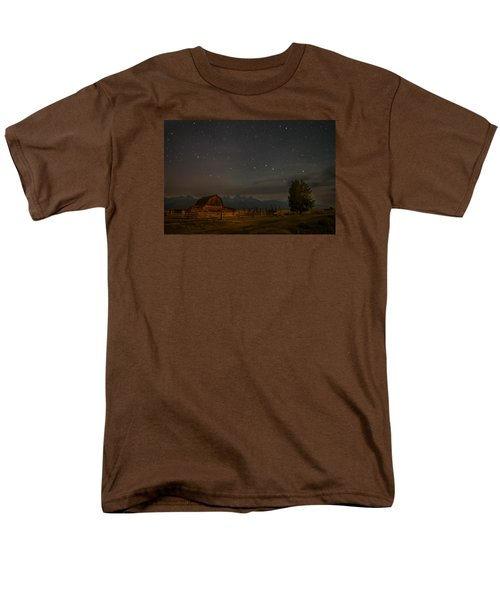 Men's T-Shirt  (Regular Fit) featuring the photograph Wyoming Countryside At Night by Serge Skiba