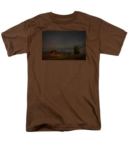 Wyoming Countryside At Night Men's T-Shirt  (Regular Fit) by Serge Skiba