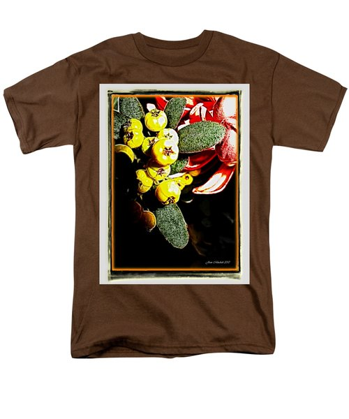 Men's T-Shirt  (Regular Fit) featuring the photograph Yellow Berries by Joan  Minchak