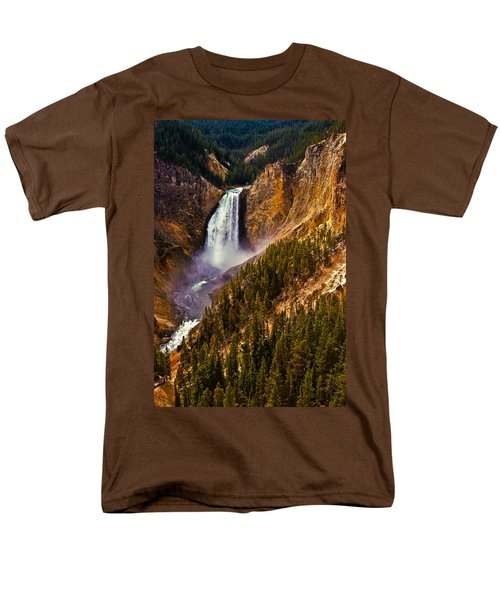 Men's T-Shirt  (Regular Fit) featuring the photograph Yellowstone Falls by Harry Spitz