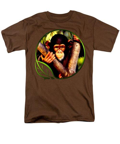 Young Chimpanzee Men's T-Shirt  (Regular Fit) by Dan Pagisun