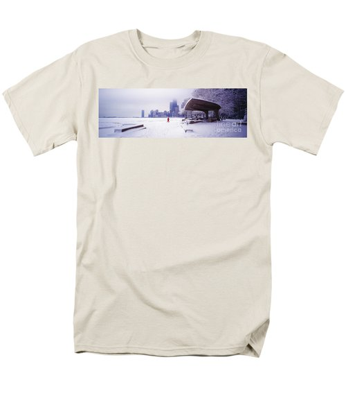 Men's T-Shirt  (Regular Fit) featuring the photograph  North Ave Beach Chess Palv Chicago Lake Front  by Tom Jelen