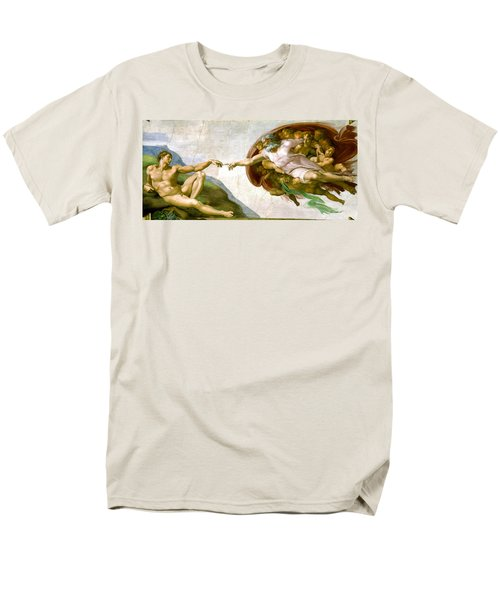 The Creation Of Adam Men's T-Shirt  (Regular Fit) by Michelangelo di Lodovico Buonarroti Simoni