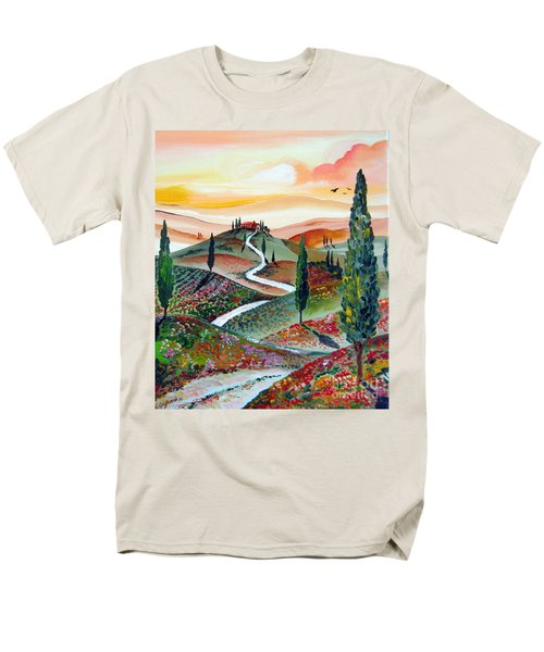 Winding Country Road Among The Hills Of Tuscany Men's T-Shirt  (Regular Fit)