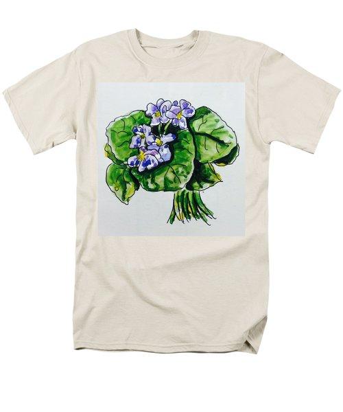 African Violet Men's T-Shirt  (Regular Fit) by Hae Kim