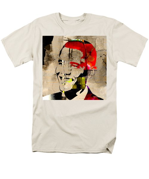 Men's T-Shirt  (Regular Fit) featuring the photograph Barack Obama by Marvin Blaine