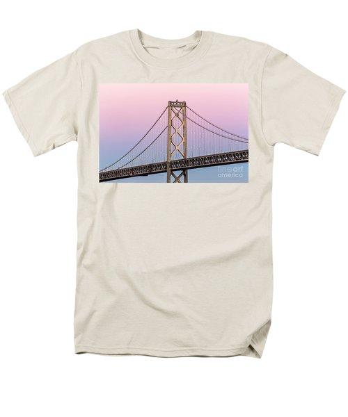 Bay Bridge Lights At Sunset Men's T-Shirt  (Regular Fit) by Kate Brown