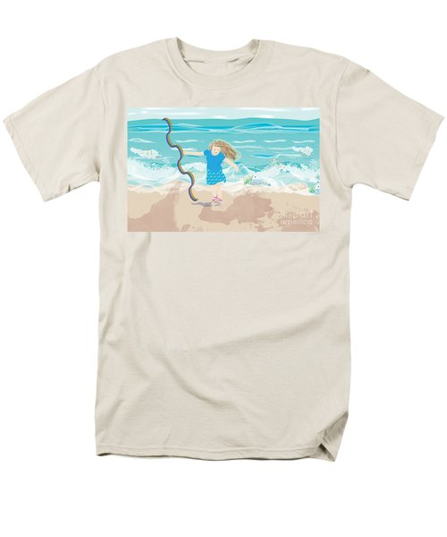 Men's T-Shirt  (Regular Fit) featuring the digital art Beach Rainbow Girl by Kim Prowse