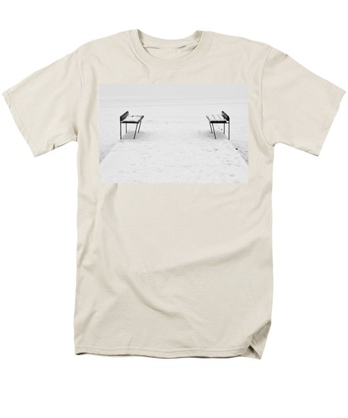 Benches On A Dock Men's T-Shirt  (Regular Fit) by Jouko Lehto
