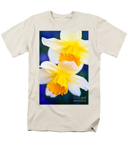 Men's T-Shirt  (Regular Fit) featuring the photograph Daffodils by Roselynne Broussard