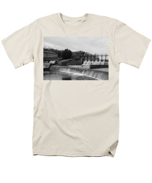 Daniel Pratt Cotton Mill Dam Prattville Alabama Men's T-Shirt  (Regular Fit) by Charles Beeler