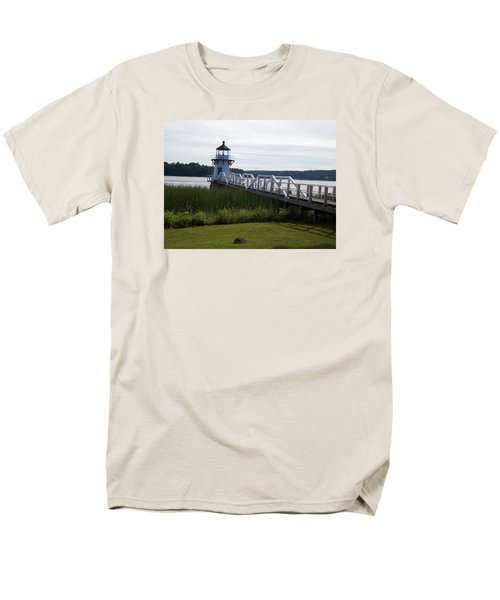 Doubling Point Lighthouse Men's T-Shirt  (Regular Fit) by Catherine Gagne