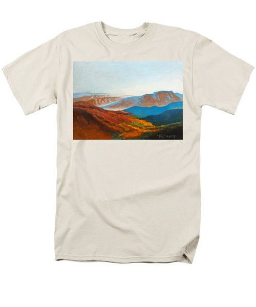 East Fall Blue Ridge Mountains 2 Men's T-Shirt  (Regular Fit) by Catherine Twomey