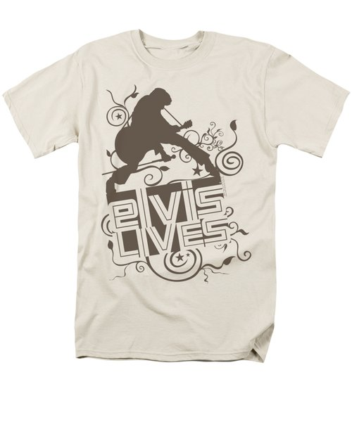 Elvis - Elvis Lives Men's T-Shirt  (Regular Fit) by Brand A