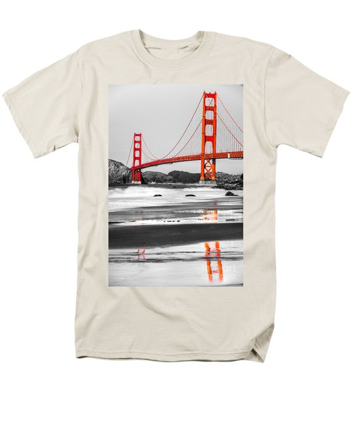 Golden Gate - San Francisco - California - Usa Men's T-Shirt  (Regular Fit) by Luciano Mortula