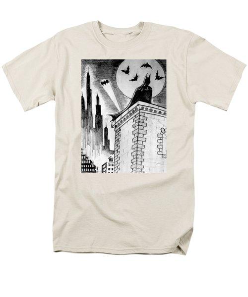 Men's T-Shirt  (Regular Fit) featuring the painting Gotham  by Salman Ravish