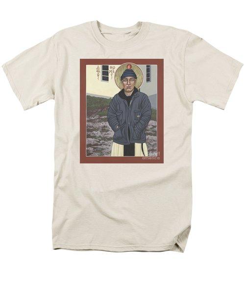 Holy World Evangelist Thomas Merton 267 Men's T-Shirt  (Regular Fit) by William Hart McNichols