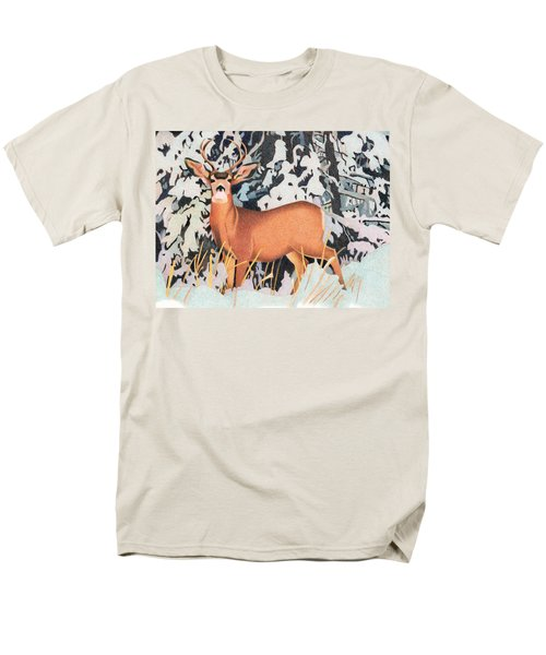 Mule Deer Men's T-Shirt  (Regular Fit) by Dan Miller