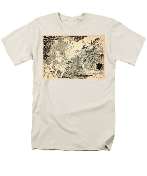 Men's T-Shirt  (Regular Fit) featuring the drawing Open Sesame by Reynold Jay