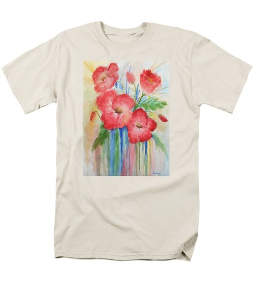 Poppies Men's T-Shirt  (Regular Fit) by Christine Lathrop