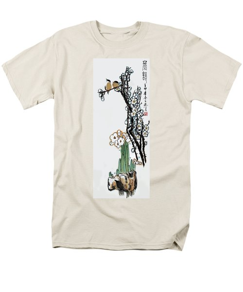 Men's T-Shirt  (Regular Fit) featuring the photograph Spring Melody by Yufeng Wang